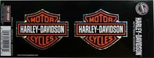 Harley DAVIDSON barra y escudo logo original de la etiqueta engomada 2 Mini hoja de calcomanías