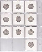 CB365) Australia 1960 Shilling, GEM uncirculated. Full original lustred coin ex