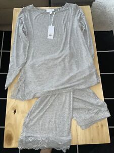 White Company Lace Pyjama Set Size S