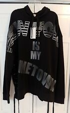 FAITH CONNEXION Mens NY Is My Hometown Oversized Blk/Gray Sweatshirt NWT Fit XXL