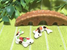 Koi Fish Ceramic Miniature Dollhouse Animal Figurine Terrarium Collectible Gift