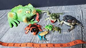 Lot Mixed Lot Of Large Frog Or Toad Toys