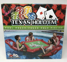 RARE Pool Water Poker Game Inflatable Chair Table Pad Set H20 Go Intex Toy VTG