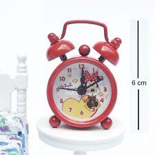 BBtoysHK 1:6 Doll House Miniature Decoration Mini Toy Clock Set RED