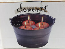 Floating Pumpkin Candles in Bucket Elements Fall Decoration Halloween New