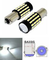 2x BAX9S H6W 433 BRIGHT WHITE 54SMD CAR LED CANBUS SIDELIGHT BULBS AUDI BMW VW