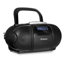 Boombox Portable CD player Cassette Stereo Speaker FM DAB Radio MP3 USB Black