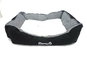 New Denim Pet bed dog bed cat bed with fleece top cushion warm snugly