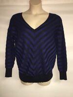Lane Bryant Sweater Womens DK Blue Stripe Plus Size 14/16 18/20 22/24 26/28 NWOT
