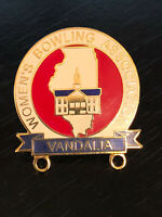 Vintage Collectible Women's Bowling Assoc Vandalia Colorful Metal Pin Back