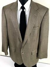 ALAN FLUSSER Men Gold HOUNDSTOOTH Sport Coat 2-BNT Jacket SILK Wool Blazer 42 R