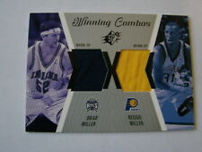 2003-04 SPX Winning Combos Brad Miller & Reggie Miller Jersey Card Pacers (B24)