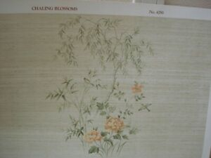Dollhouse Miniatures Wallpaper Mural With Coordinating Paper - Chaling Blossoms
