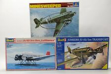 3x Junkers Ju-52 1:72 Revell 4242 Lufthansa 04305 Transport Italaerei 126 Minesw