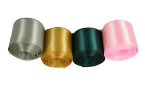 """CHRISTMAS Set 4 Rolled up 1-1/2"""" SF SATIN Ribbon 5 Yds each ( 20 Yds Total )"""
