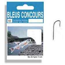 Hameçons montés Autain N°22 0,06mm bleus concours par 10