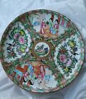 """Antique CHINESE Porcelain ROSE MEDALLION Hand Painted PLATE Court Scene 7"""""""