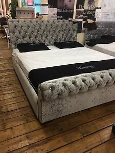 Softside Luxurious Shabby Chic Waterbed In Any Size,any Colour