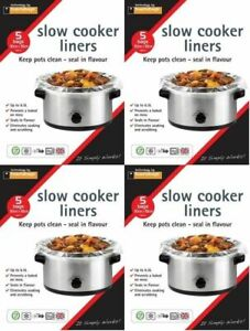 20 x SLOW COOKER LINERS For Round & Oval Slow Cookers Toastabags