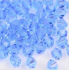 100pcs swarovski Crystal 4mm 5301# Bicone Beads light blue