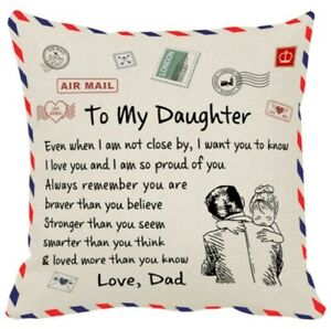 Love dad, To My Daughter Decorative Pillows Cushion Cover Use For Home