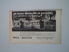 advertising Pubblicità 1972 AUTOCARAVAN CARAVAN ARCA