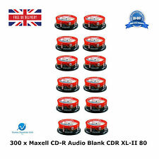 300 Pack Maxell CD-R CDR XL-II Audio Music 80 MINS Recordable Blank Discs CD's