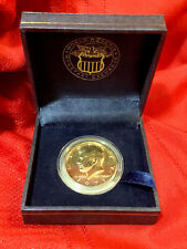 1971 GOLD PLATED KENNEDY HALF DOLLAR ... World Reserve ... In Box