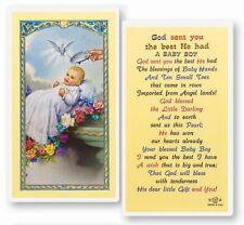 BAPTISM - BOY LAMINATED HOLY CARD