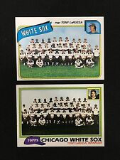 CHICAGO WHITE SOX UNMARKED TOPPS 1980 & 1981 TEAM TONY LARUSSA BASEBALL CARDS