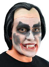 Vampire Dracula Perruque noire Slick Arrière headpiece Halloween Déguisement