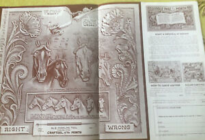 Vtg Doodle Page Horses Stohlman Series  Leather Craftaid