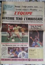 L'Equipe Journal 11/11/1987; Dopage; Longo/ Leconte, Wembley/ Auxerre/ Hockey