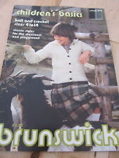 VINTAGE BRUNSWICK AUSTRIA KNIT CROCHET KID SWEATER BOOK