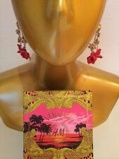 Versace for H&M Ohrringe / Ohrhänger Blüten Rot/Gold earrings *NEW* in Box