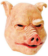 MENS EVIL HORROR PIG MASK ANIMAL OVERHEAD FANCY DRESS LATEX HALLOWEEN COSTUME