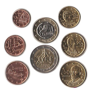 Greece 2010 - Set of 8 Euro Coins (UNC)