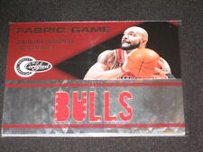 Carlos Boozer Bulls Certified Authentic Game Used Jersey Basketball Card #8/299