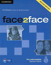 Cambridge FACE2FACE Pre-Intermediate Teacher's Book with DVD Second Edition @NEW