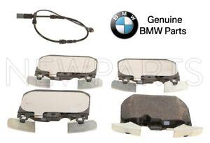 For BMW 328i 435i 428i F30 F32 F34 F36 Set of Front Brake Pads & Sensor Genuine