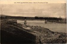 CPA PONT-de-POITTE Pont du Tramway sur l'Ain. (247556)