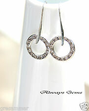 Earrings made with Vintage Swarovski circles multi stone channel crystals new