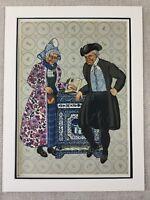 1932 Olandese Stampa Vecchio Uomo Woman Donna Costume Delft Originale Art Deco