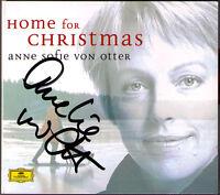 Anne Sofie VON OTTER Signiert HOME FOR CHRISTMAS Stille Nacht Koppangen White CD