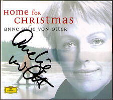 Anne Sofie de Otter signé Home for Christmas Silence Nuit koppangen White CD