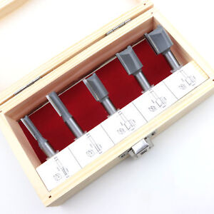 HM Fräsersatz 5 tgl. 8 mm Nutfräser Fräser für Oberfräse Holzfräser Oberfräser