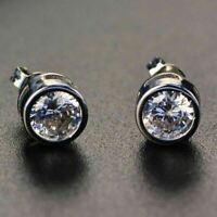 2 Ct Round Cut Moissanite Stud Earrings Women Wedding Engagement Jewelry Gift