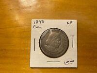 1893 COLUMBIAN EXPOSITION 90% SILVER HALF DOLLAR RARE Not Junk Coin