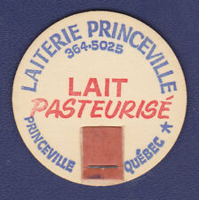 UNUSED MILK BOTTLE CAP (LAITERIE PRINCEVILLE, PRINCEVILLE, QUEBEC, CANADA.)