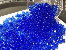 lot de 20 grosses perles rondes en verre 8mm BLEU OCEAN //7